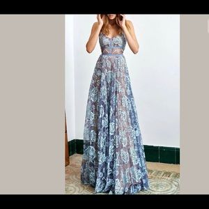 NEW Alexis *Isabella* blue lace dress gown S